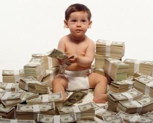 enseñar, niños, dinero